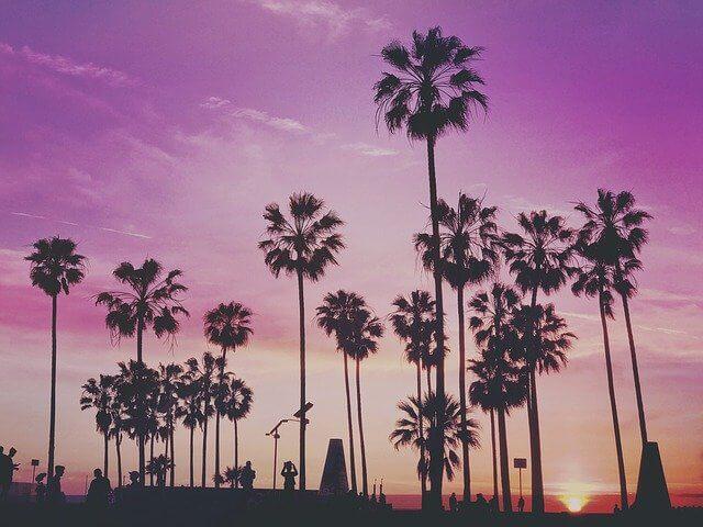 tramonto a Miami Beach